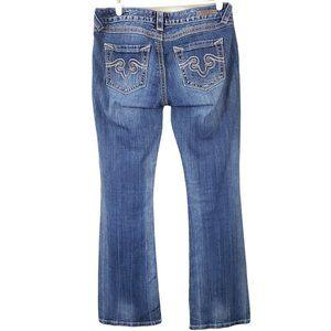 Express Rerock Boot Cut Embroidered Denim Jeans